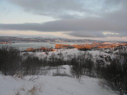 Мурманск, район Роста, вид с памятника Алеше.