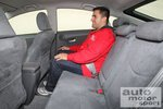 На заднем ряду сидений Prius
