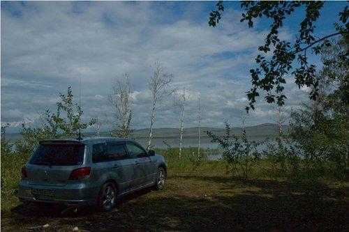 Стоянка на озере Шира.