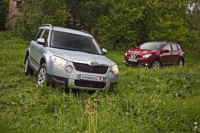 Nissan Qashqai и Skoda Yeti на тест-драйве Drom.ru