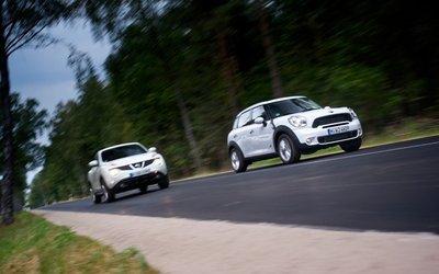 Mini Countryman и Nissan Juke