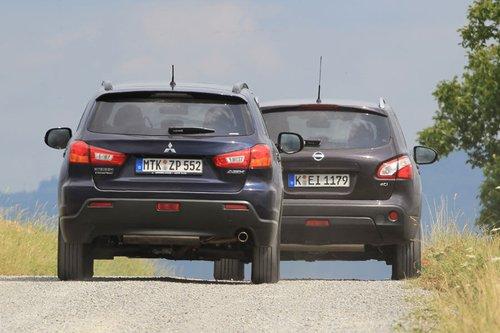 Базовая стоимость Mitsubishi ASX 1.8 Di-D 4WD составляет 25790евро, Nissan Qashqai обойдется в 27690евро.