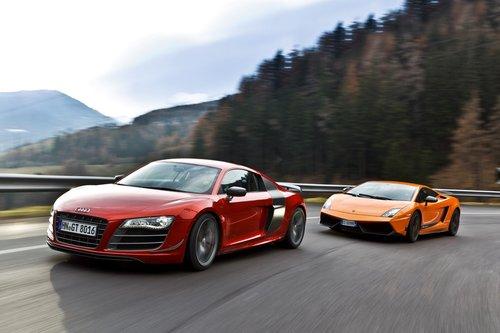 Audi R8 GT 2011 наступает на пятки Lamborghini.