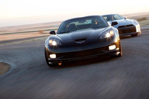Вэтот раз время круга Corvette Z06 по трассе Streets of Willow 1:22,7, против 1:23,8 уGT-R.