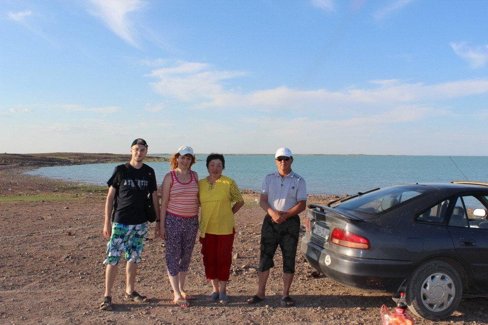 семейное пара с казахами