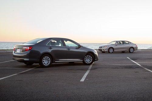 Toyota Camry пришлось нелегко в сражении с Accord в рамках нашего сравнительного теста.
