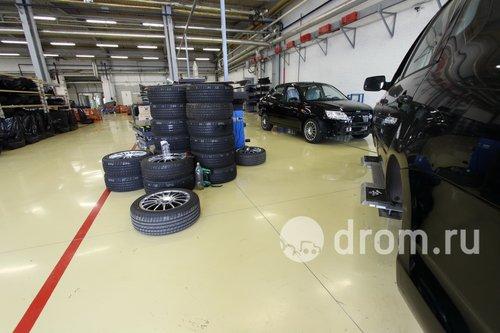 Участок установки колес на Гранту Спорт