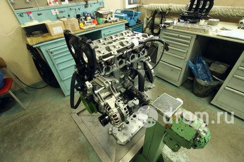Святая святых — участок доработки двигателей Granta Sport