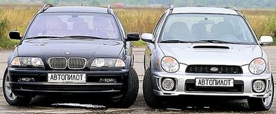 BMW 325Xi Touring, Subaru Impreza WRX Wagon, 2001 год