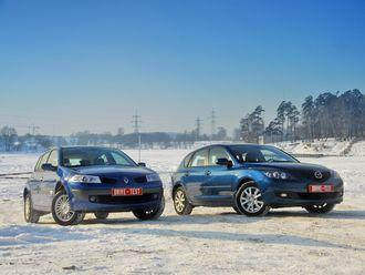 Mazda3 и Renault Megane разделяют не только несколько тысяч долларов, но и огромная пропасть в идеологии. Но, тем не менее, они прямые конкуренты.