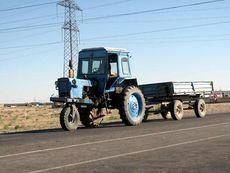 Узбекский трехколесный трактор