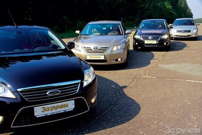 Toyota Camry, Ford Mondeo, Volkswagen Passat, Nissan Teana.
