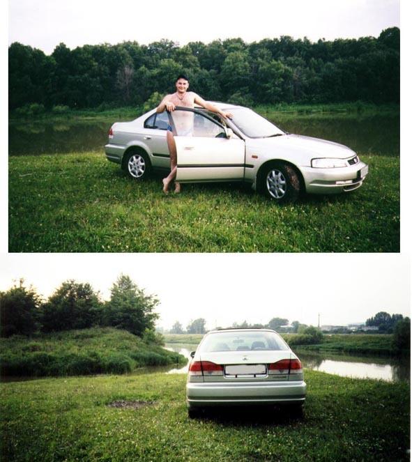 8fce05bf2bd6 Хонда Домани 1997 года, 1.6 литра, Марка авто: Honda Domani, Самара, D16A,  серебристый металлик с зеленоватым отливом, комплектация автомобиля Сзади  ...