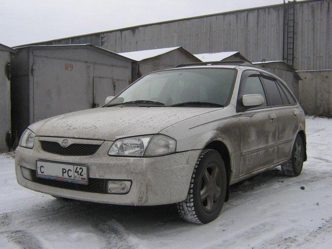 от какого автомобиля подойдут противотуманные фары к mazda familia 2001