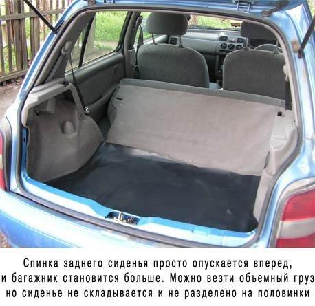 размер сидений автомобиля ниссан марч