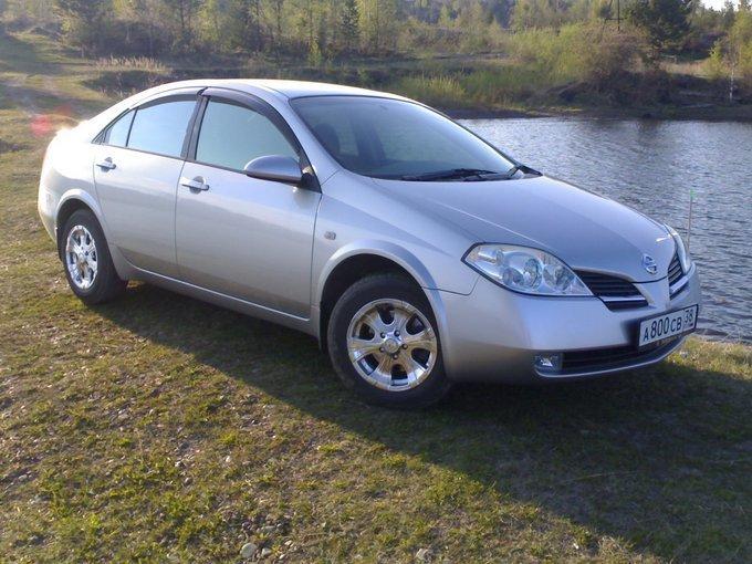 Ниссан Примера 2003, 1.8 литра, бензиновый двигатель, АКПП, правый