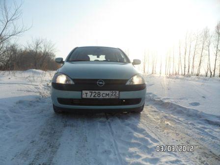 Opel Corsa 2002 - отзыв владельца
