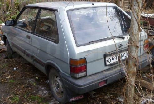 Subaru Justy 1986 - отзыв владельца