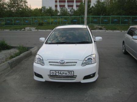Toyota Allex 2004 - отзыв владельца