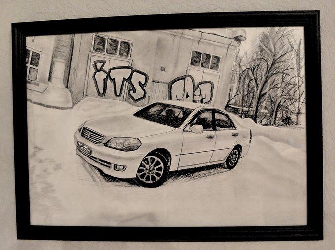 Тойота марк 2 рисунок