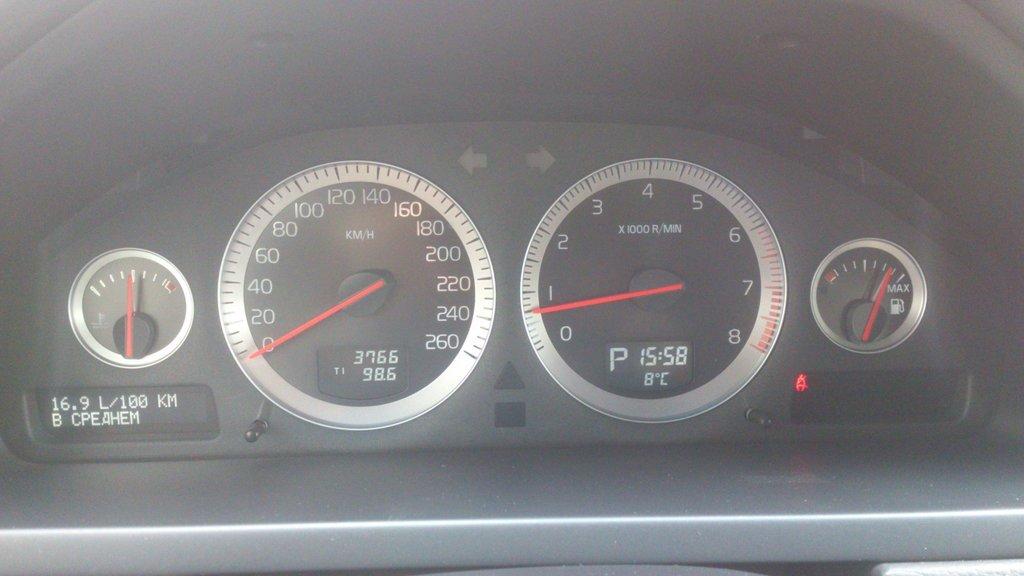 вольво 2.5t рабочая температура двигателя