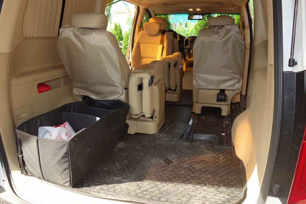 hyundai grand starex объем багажника