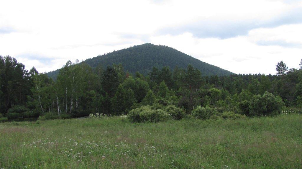 Гора Бадара не далеко от Саян тайга...