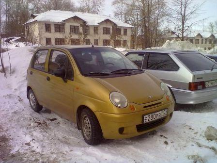 Daewoo Matiz 2003 - отзыв владельца