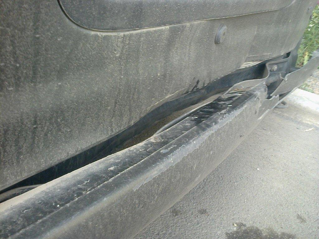 Машина после удара(