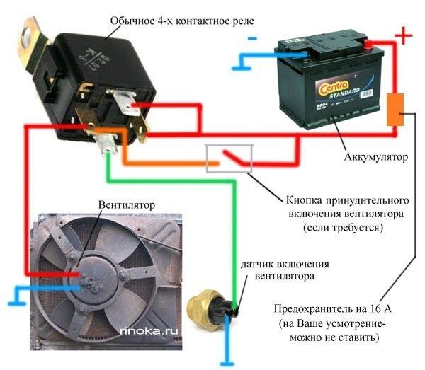 По электрике как соединить вентилятор