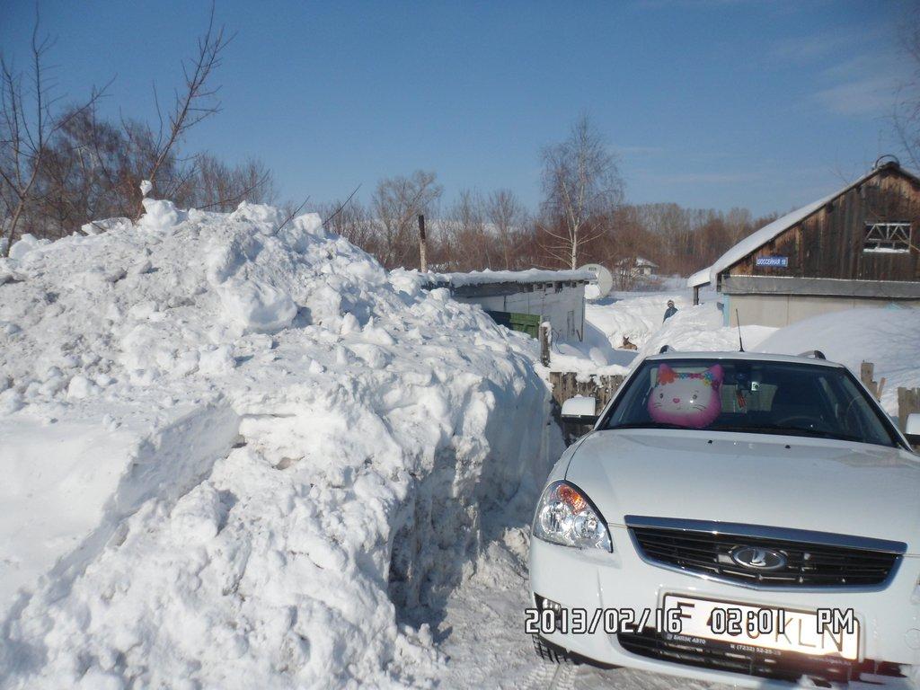 Вот такая зима у нас была в 2012-2013