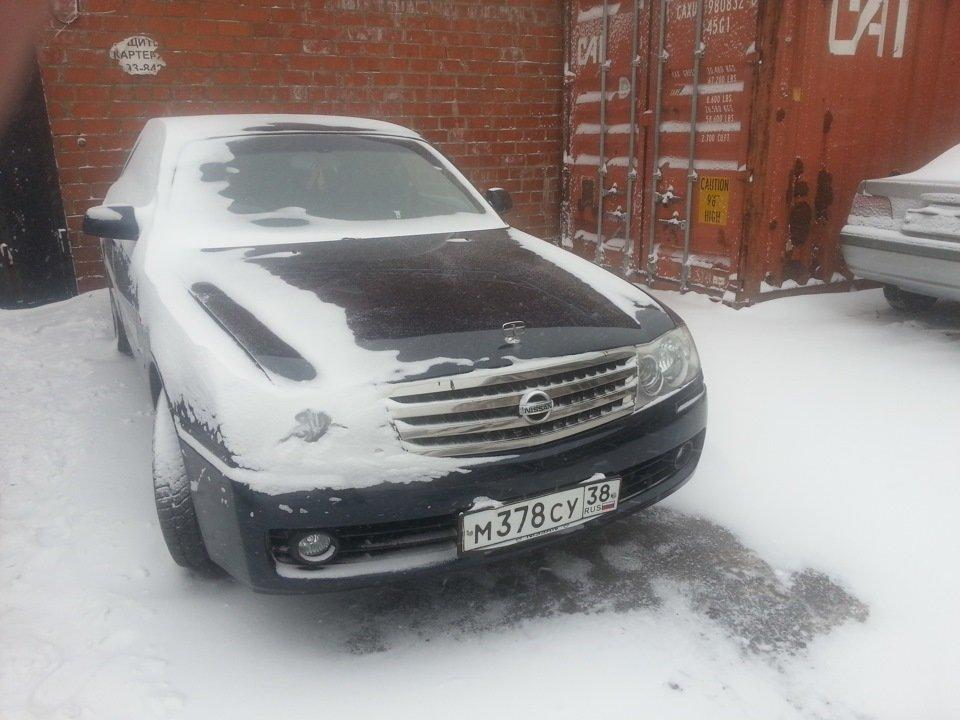 После снега))