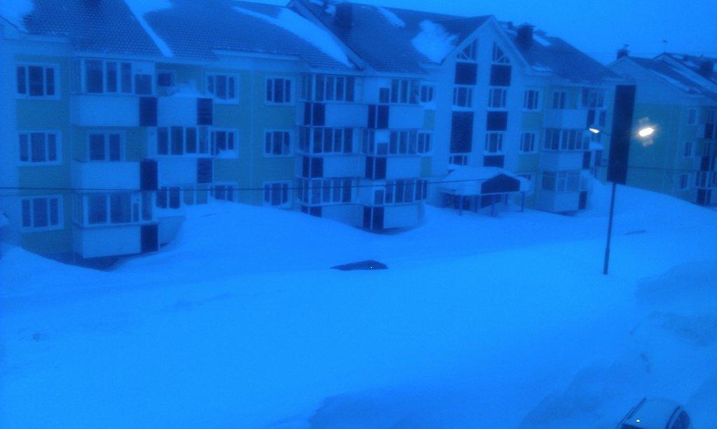 Такая у нас погода зимой - вид из окна
