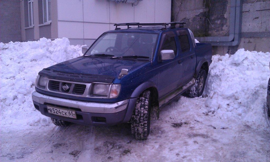 Уже на новых больших колесах. Снег выпал совсем недавно.