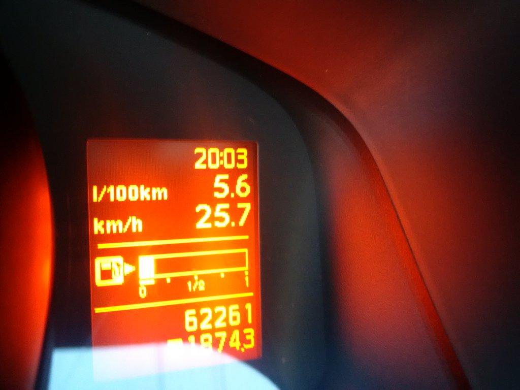 выезд в город, средний расход топлива