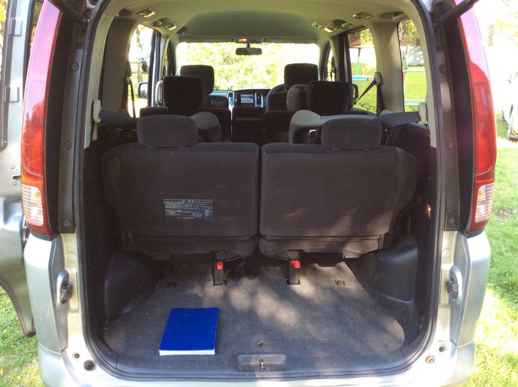 Багажник с полностью отодвинутыми назад сидениями