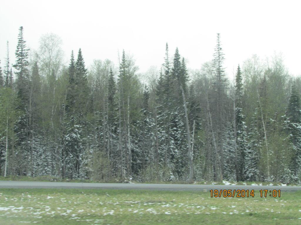 Ну а Красноярск встречал нас снегом