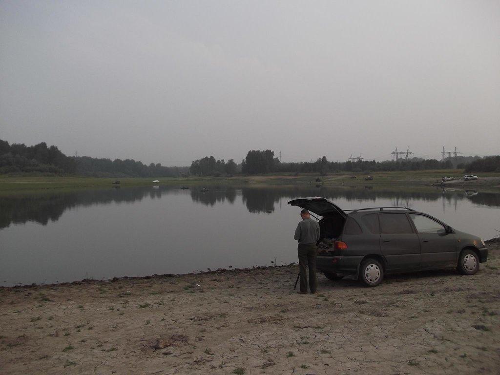 Июль 2012 года. Рыбалка на пруду Репьево, Тогучинский район НСО.