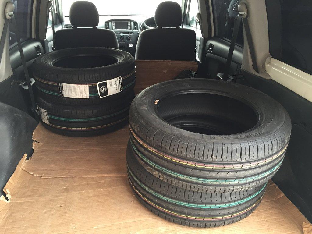 Сегодня, 05.02.2015, новые шины для Рио.