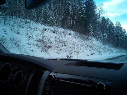 Местами снег!