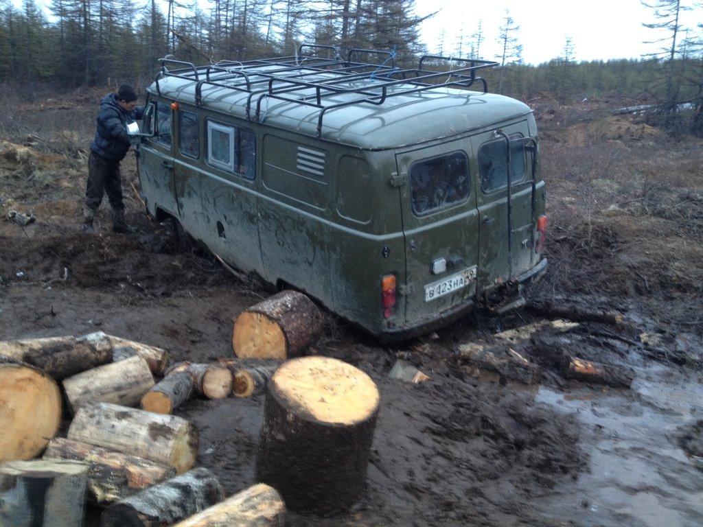 Съездили за дровами в палатку