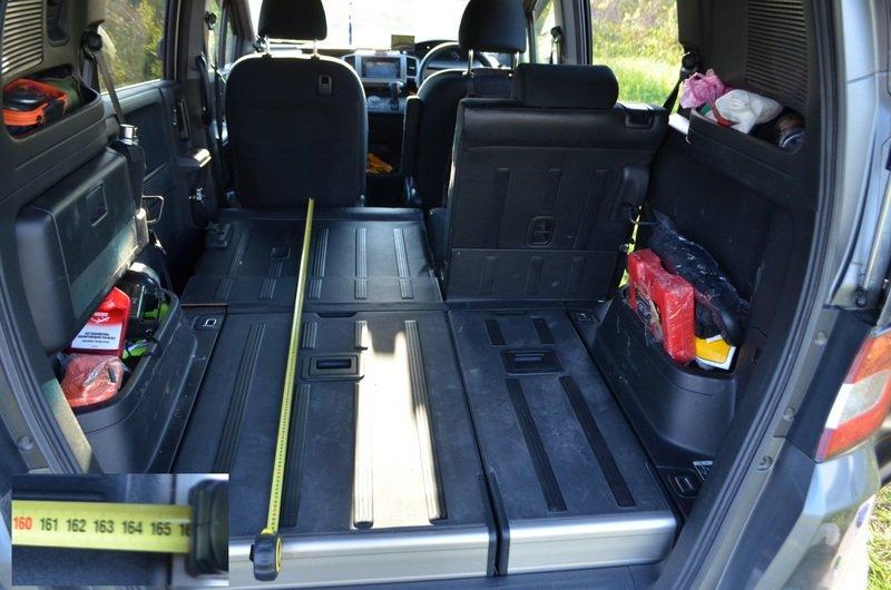 Длина багажника при сложенных задних сидениях до края панелей