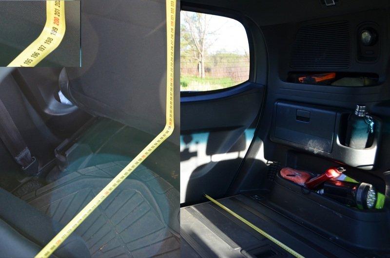 Длина спального места с отодвинутыми передними сидениями 199 см