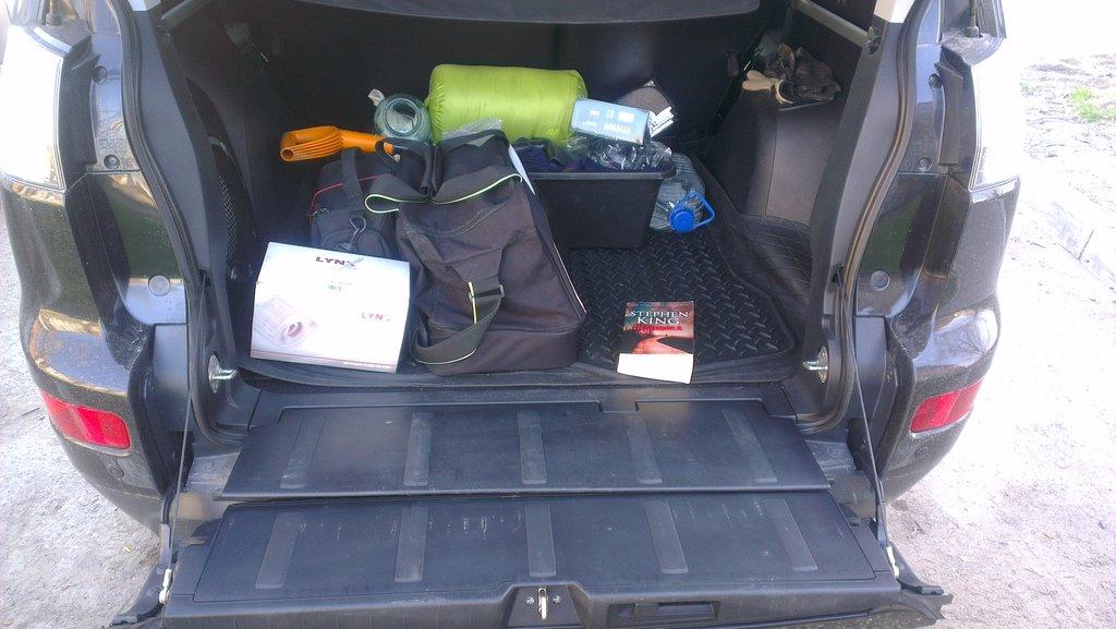 Классная вещь, что открывается багажник в таком положении. Что-то тяжелое легко поставить. легко достать