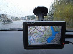 Навигационная система в Toyota Camry.