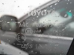 Вот японское стекло и маркировка. Вода и грязь на таком стекле задерживаются неохотно, очень похоже на специальную химическую обработку.