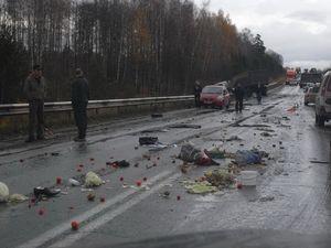 Трагическая авария в районе Малая Кускунка после моста через реку Есауловка.