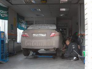 Монтаж зимних шин на Камри.