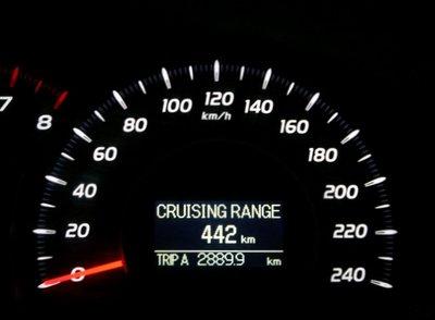При этом бортовой компьютер заверил водителя, что бака (70 литров) хватит на 442 км пробега.