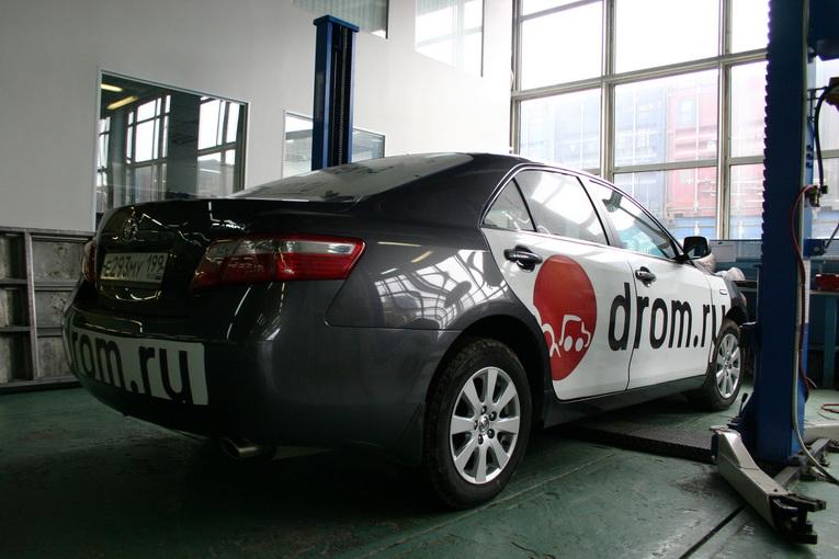 Русская Toyota Camry на сервисе